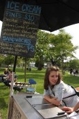 Erica of Earnest Ice Cream at the Main St. Farmers Market