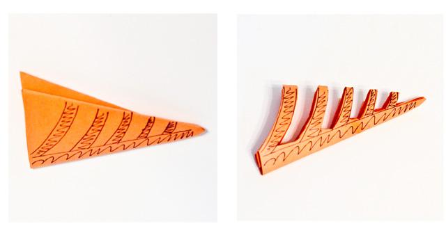 DIY Paper Spiderwebs - Step 3