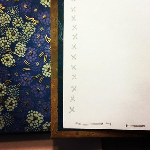 Threading intention through my new journal.