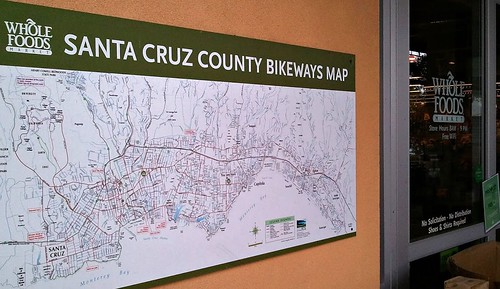 Santa Cruz Bikeways map at Capitola Whole Foods Market