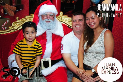 Who says only kids can sit beside Santa?