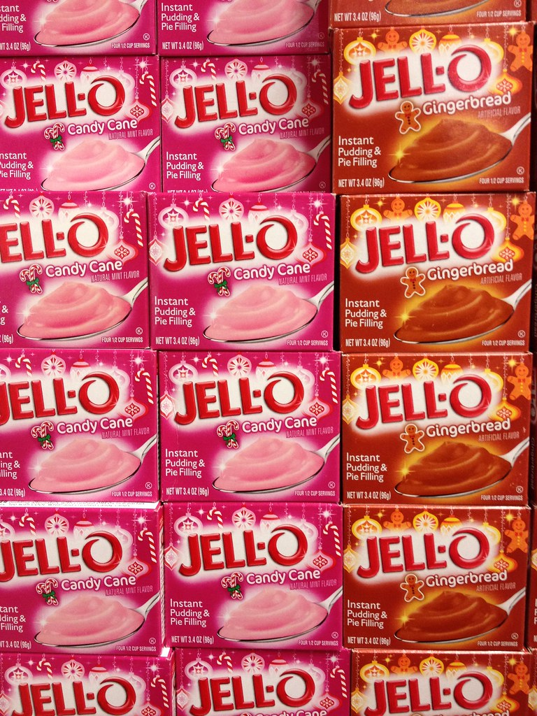 Candy Cane & Gingerbread Jell-O Instant Pudding