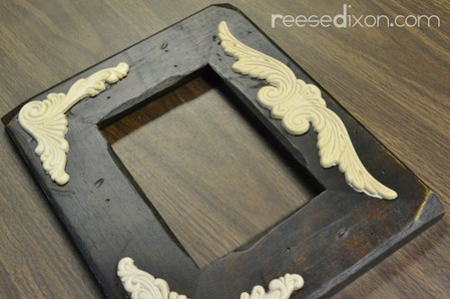 Antiqued Picture Frame Tutorial Step 2