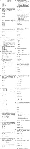 SCRA 2012 Mathematics Question Paper