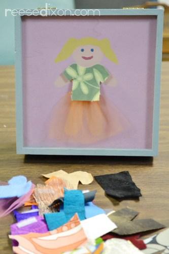 Dress Up Doll Box Tutorial Step 6