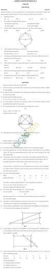 CBSE Board Exam 2013 Sample Papers (SA2) Class IX - Mathematics
