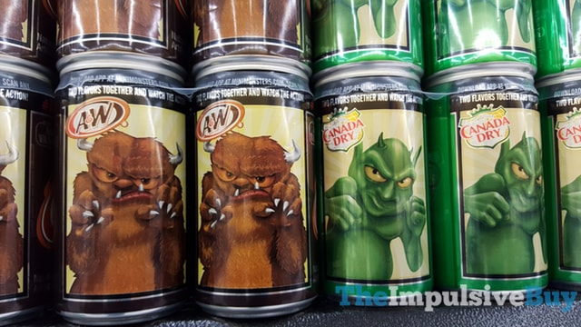 A&W and Canada Dry Monster Cans
