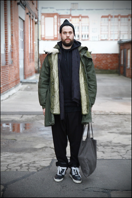 Tuukka13 - A Day In Berlin - WDYWT- KVA Sneakers, Weekday Trousers, Givenchy Hoody, Mil-Spec M65 Parka, Givenchy Scarf, Rick Owens Tote Bag and a Hat with Givenchy Pin - 12.2012 - 3