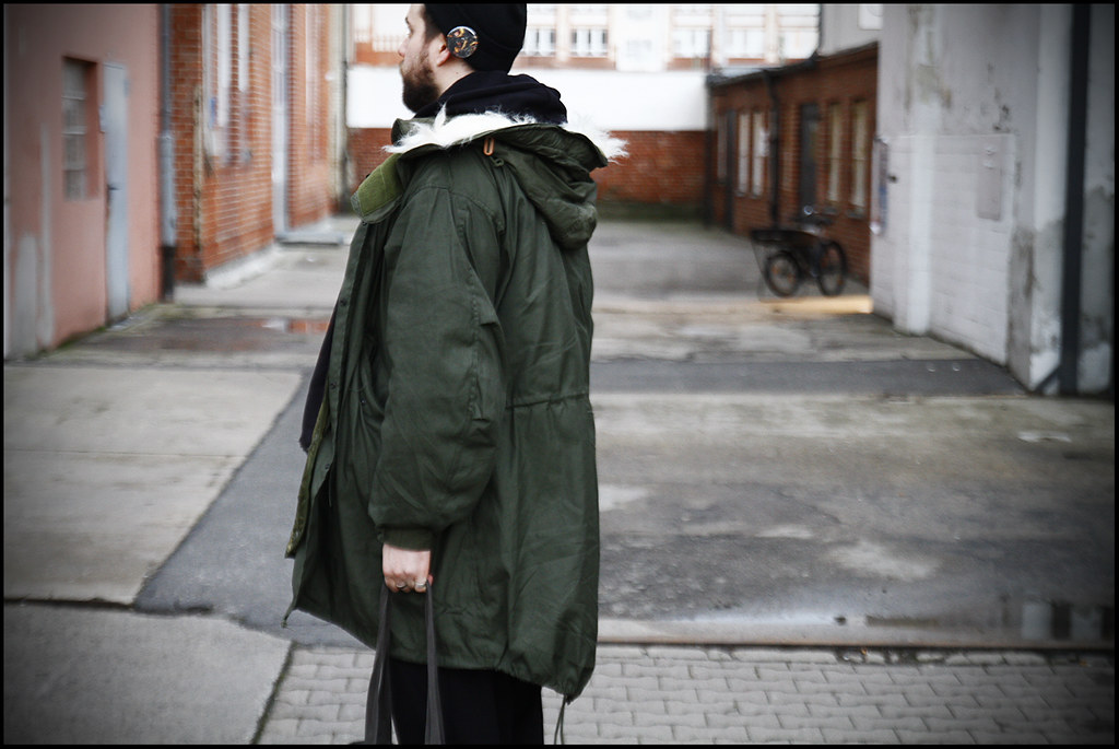Tuukka13 - A Day In Berlin - WDYWT- KVA Sneakers, Weekday Trousers, Givenchy Hoody, Mil-Spec M65 Parka, Givenchy Scarf, Rick Owens Tote Bag and a Hat with Givenchy Pin - 12.2012 - 2