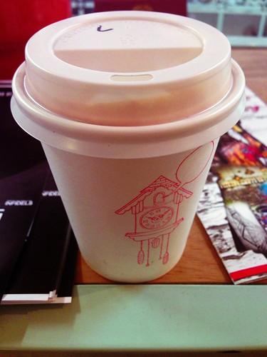 My take-away latte