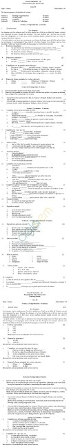 CBSE Board Exam 2014 Sample Papers (SA2): Class IX - French