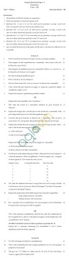 CBSE Board Exam 2013 Class 12 Sample Question Paper for Economics