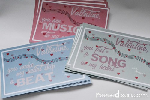 Music Themed Valentines Cards Step 2