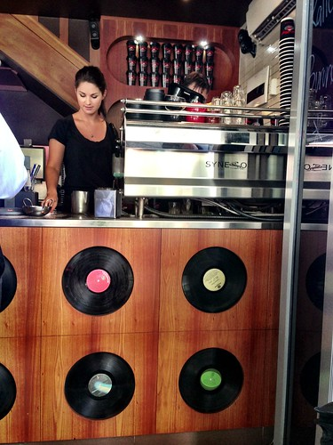 Love the records featured at Cafe Vinyl!