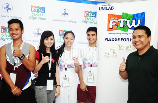 Thumbs-up sign from the Unilab Fit To Win Youth Club Ambassadors and Project Lead.