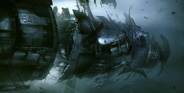 Dead Space 3 concept art by Joseph Cross and Jens Holdener featured on ConceptArtWorld