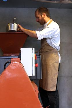 making chocolate in paris