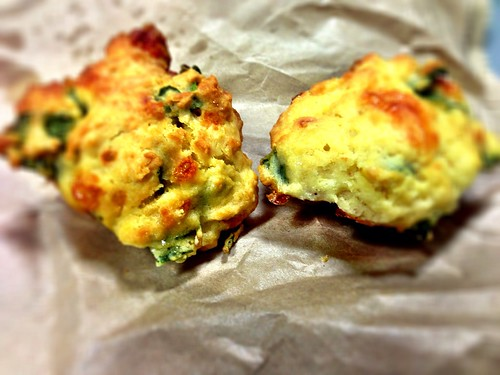 Spinach & feta muffin