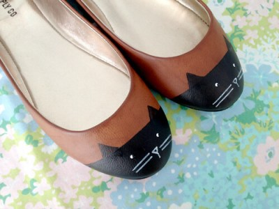 DIY Cat Kitten Painted Shoes