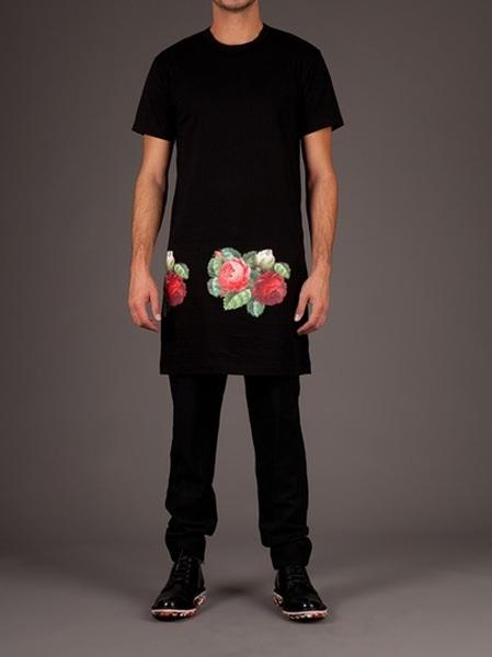 Print Inspiration Mood Board - Roses & Bandanas - comme-des-garcons-rose-rose-print-long-tshirt