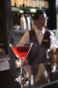Red Satin Slip at Bacchus Lounge