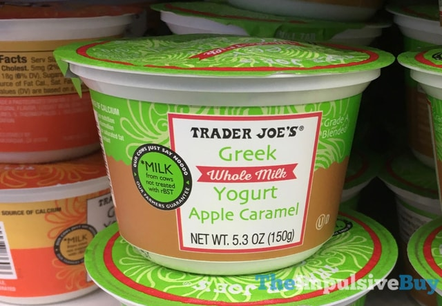 Trader Joe's Apple Caramel Greek Whole Milk Yogurt