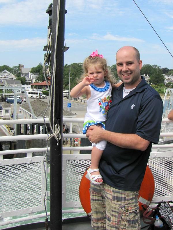 Kyle & Lennox on the Martha's Vineyard Boat ride