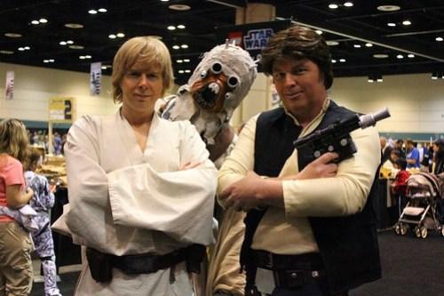 Luke Skywalker, Tusken Raider, Han Solo - Star Wars Celebration VI