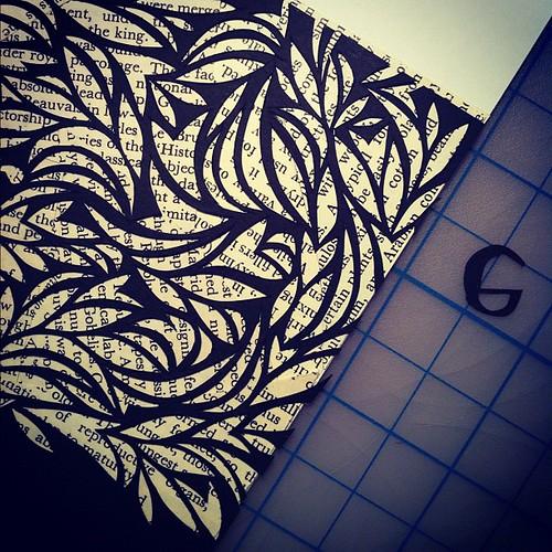 Paper cut detail