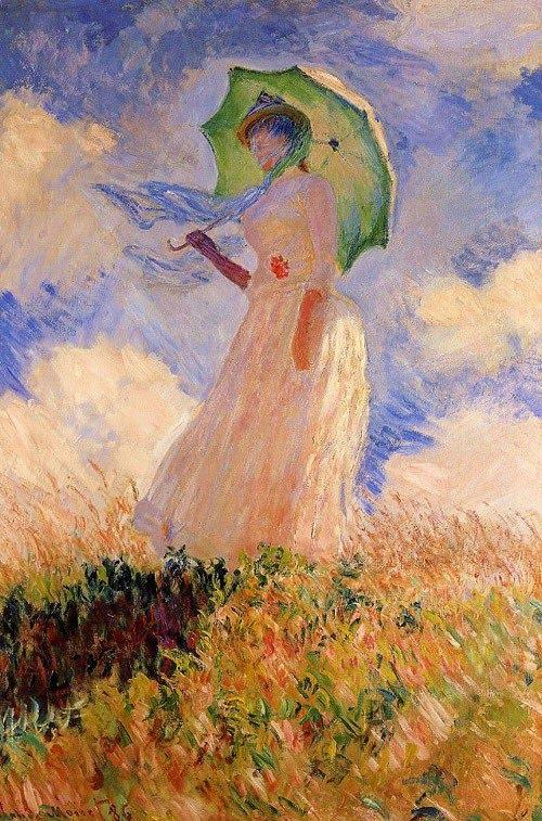 p Claude Monet (1840-1926)_  Woman with a Parasol 1886