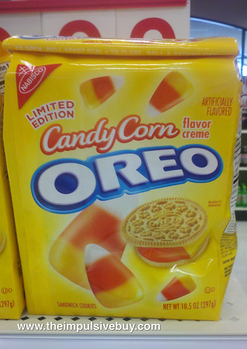 Candy Corn Oreo on Shelf