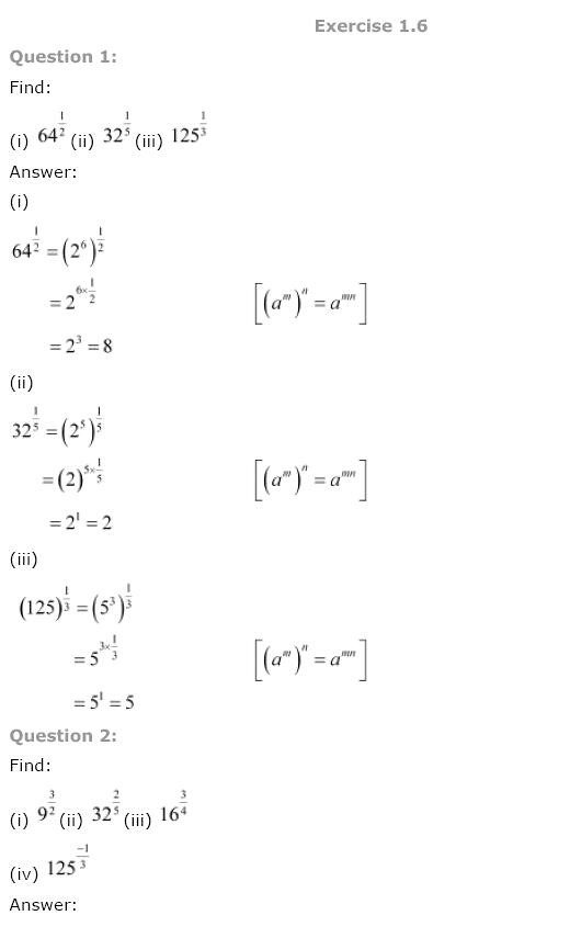 NCERT Solutions for Class 9th Maths: Chapter 1 Number Systems