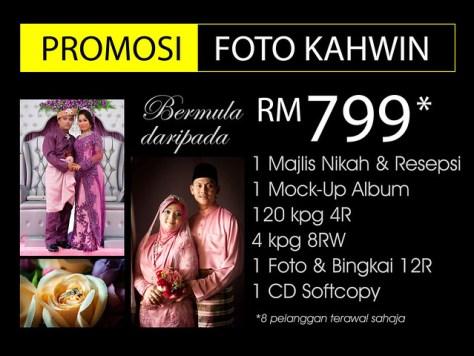 Promosi Foto Kahwin RM799