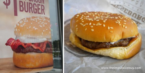 Burger King BK Bacon Burger Reality