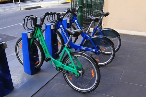 Another odd coloured Melbourne Bike Share bicycle