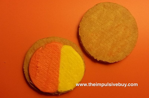 Nabisco Limited Edition Candy Corn Oreo Closeup