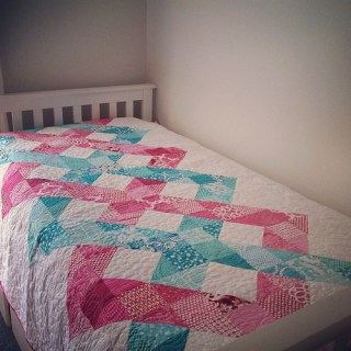 It never showed up in my feed... #helixquilt done!