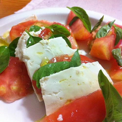 塩麹豆腐のカプレーゼ #dinner