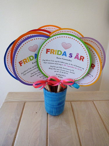 Lollipop birthday invitations