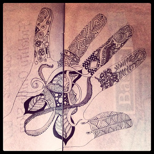 Hand doodle in progress. XoS