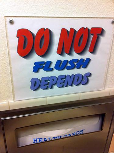 Do Not Flush Depends