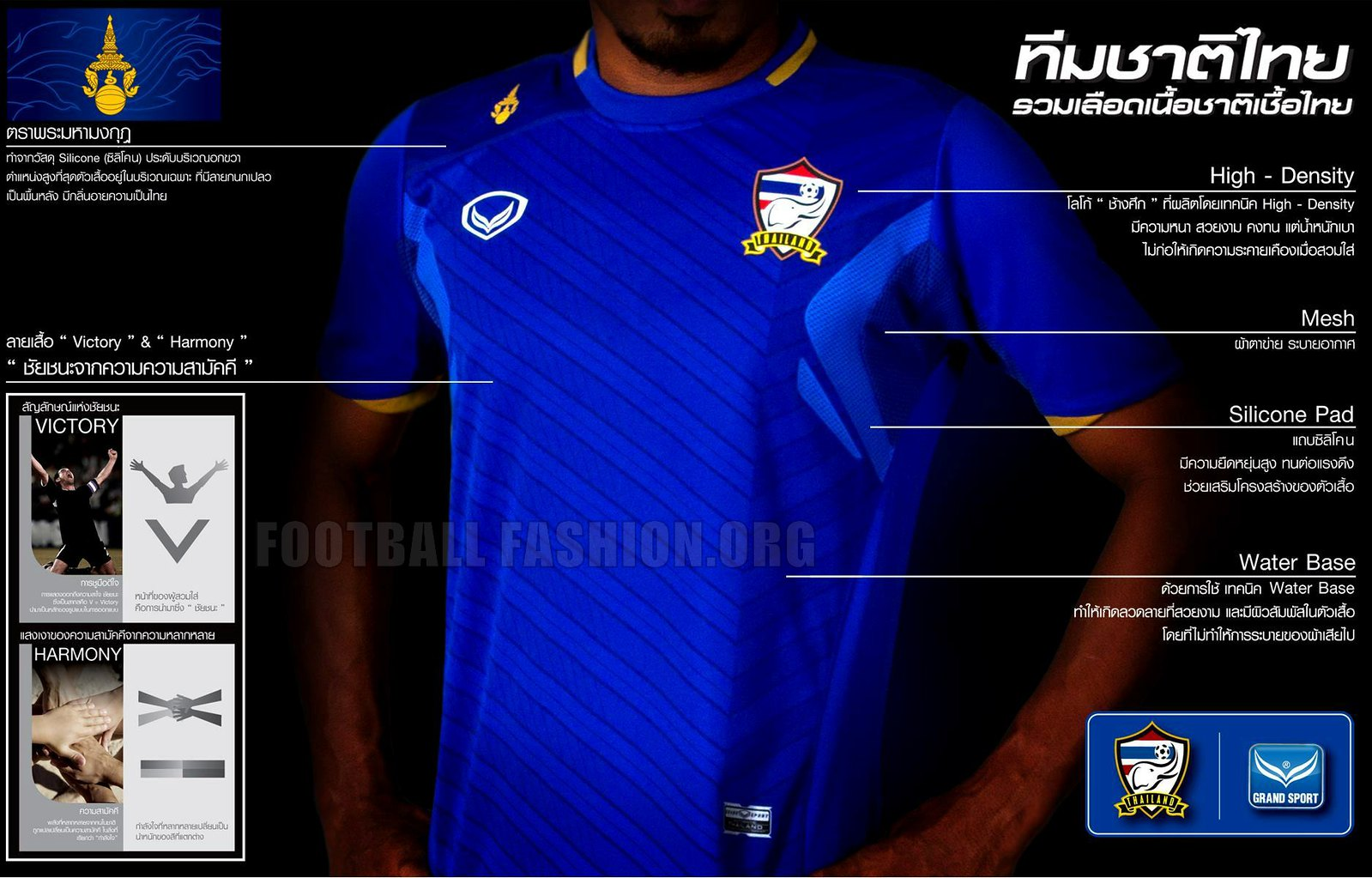 Thailand 2013 13 home and away soccer jerseys football kits