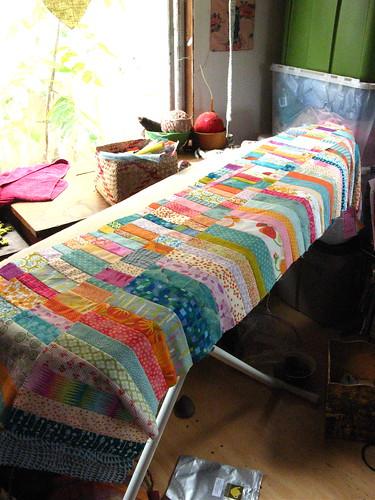alice's quilt in progress