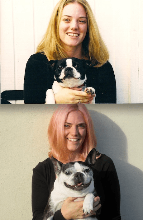 Ayla and Megan: then and now