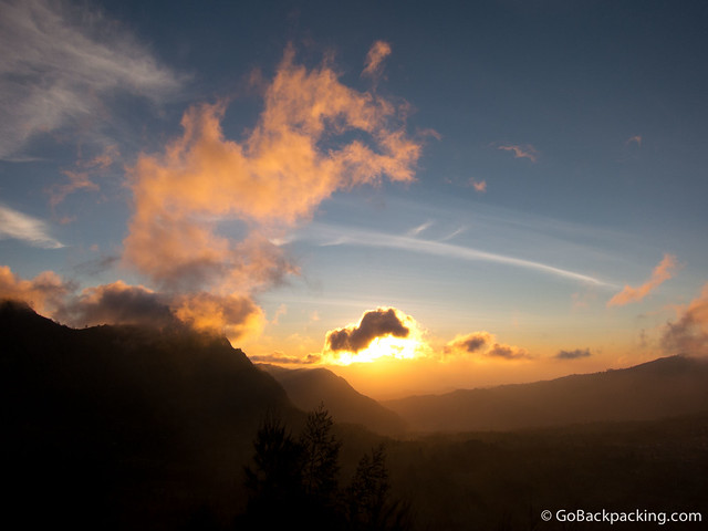 Sunrise to the east of Mount Bromo