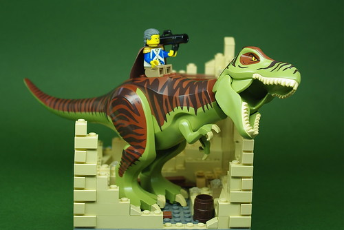 George Washington on a T-Rex