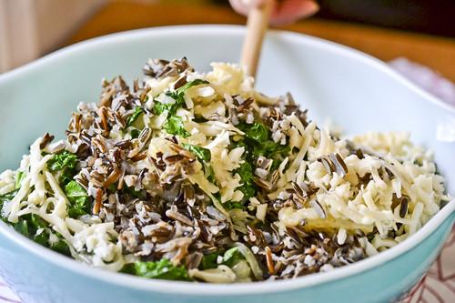 Wild Rice Gratin with Kale, Caramelized Onions & Baby Swiss 12