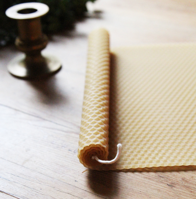 rolling beeswax tapers