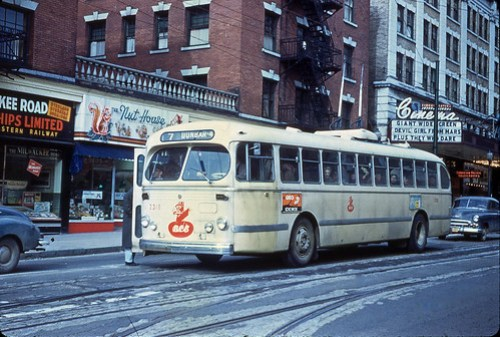 Vancouver Trolley Bus 1954