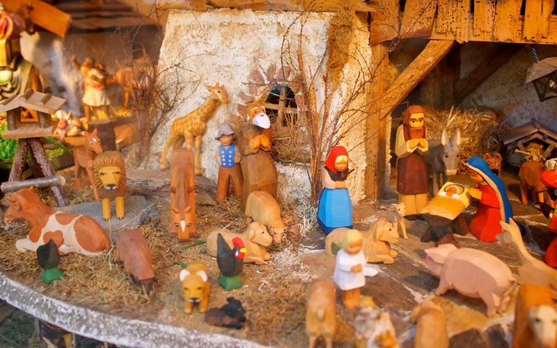 Nativity scene exhibit
